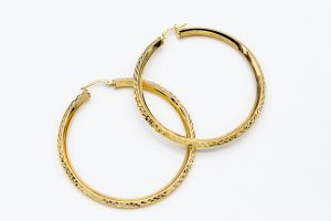 orobriz carmen joyeria pendientes argolla plata baño oro