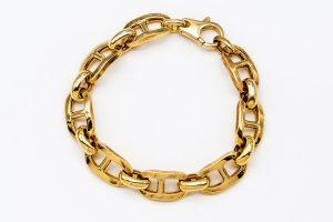 orobriz carmen joyeria pulsera plata baño oro