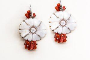 orobriz carmen joyeria sevilla plata pendientes camafeo coral