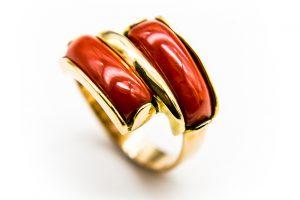 orobriz carmen joyeria sevilla coral oro anillo