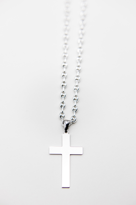 orobriz carmen joyeria cadena cruz plata