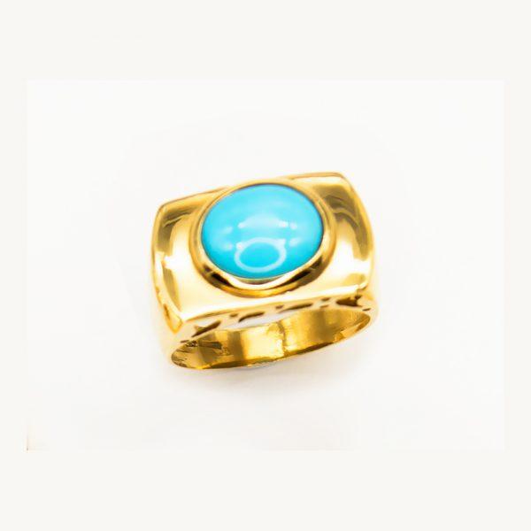 orobriz carmen joyeria sevilla anillo oro turquesa