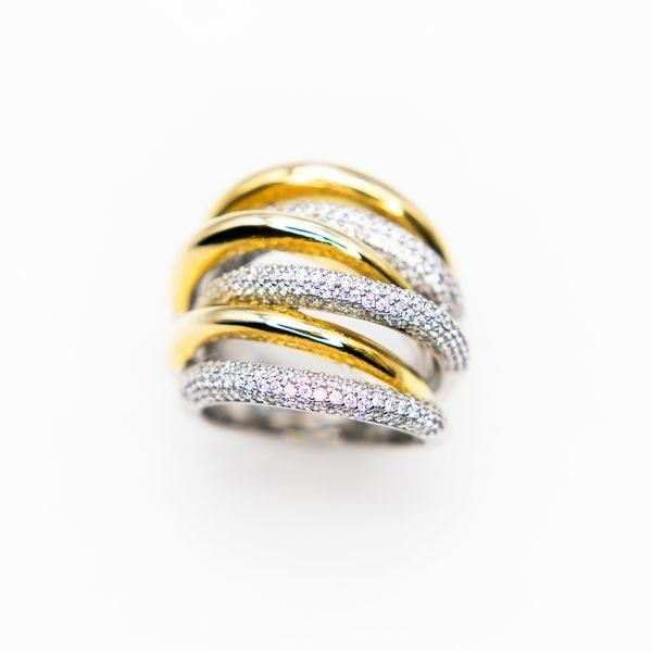 orobriz carmen joyeria sevilla anillo plata circonitas oro