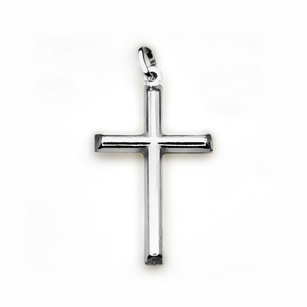 orobriz carmen joyeria sevilla cruz plata colgante biselada